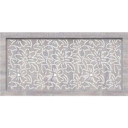 Экран для радиатора Цветы 120х60 см цвет дуб серый цена