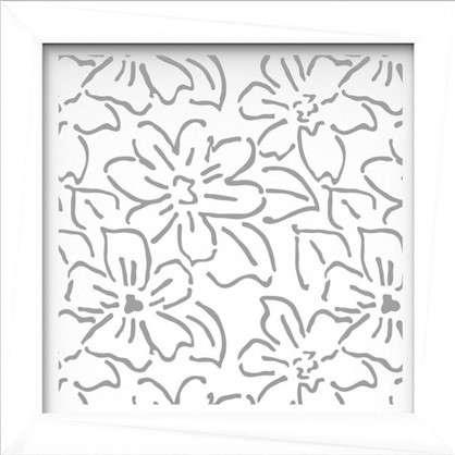 Экран для радиатора Цветы 60х60 см цвет белый цена