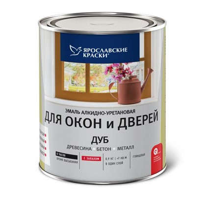 Эмаль для окон и дверей цвет дуб 0.9 кг