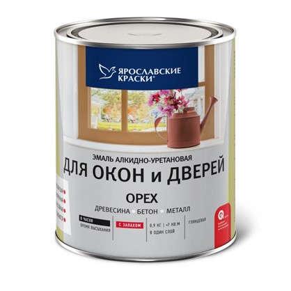 Эмаль для окон и дверей цвет орех 0.9 кг