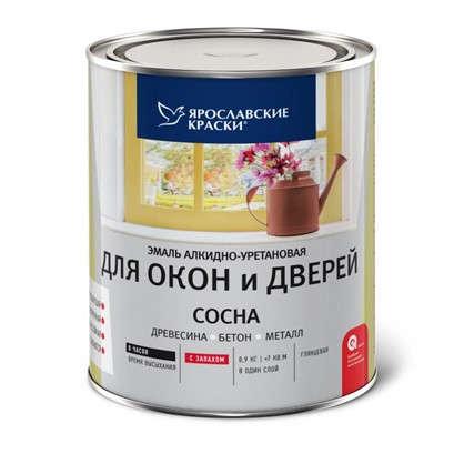 Эмаль для окон и дверей цвет сосна 0.9 кг