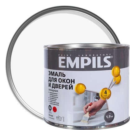 Эмаль для окон и дверей Empils PL цвет белый 1.9 кг