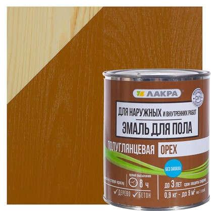 Эмаль для пола Лакра DIY цвет орех 0.9 кг цена