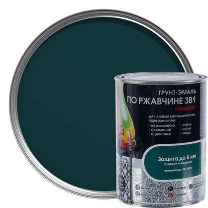 Эмаль гладкая Dali 3в1 цвет зеленый мох 0.8 кг цена