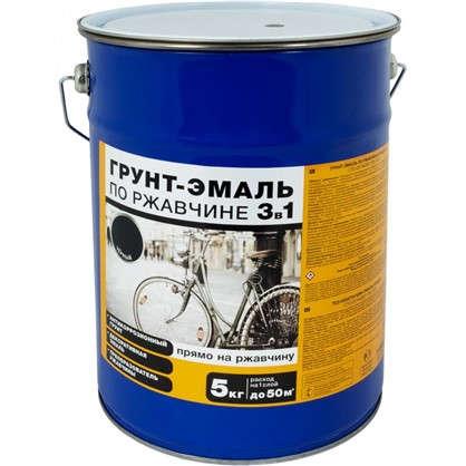 Эмаль-грунт по ржавчине 3в1 цвет черный 5 кг цена