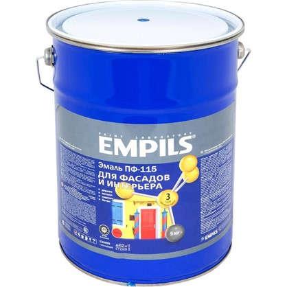 Эмаль ПФ-115 Empils PL 5 кг цвет синий цена