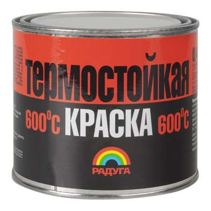 Эмаль термостойкая P-818 цвет черный 0.4 кг