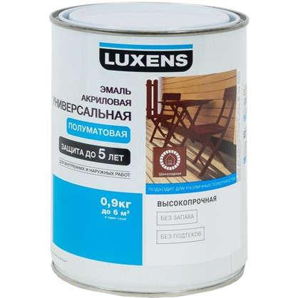 Эмаль универсальная Luxens 0.9 кг шоколадный цена