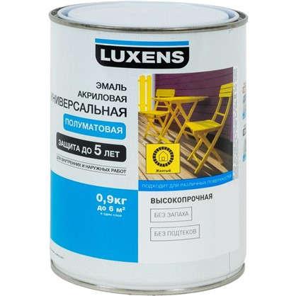 Эмаль универсальная Luxens 0.9 кг желтая цена