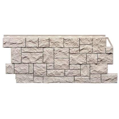 Фасадная панель FineBer Камень дикий мелованый цвет белый цена
