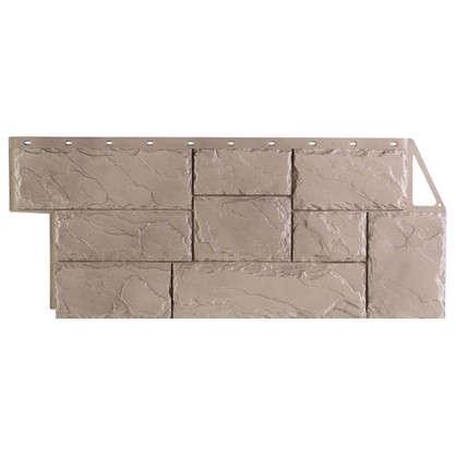 Фасадная панель FineBer Камень крупный цвет песочный цена
