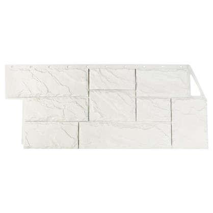 Фасадная панель FineBer Камень крупный мелованный цвет белый цена