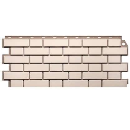 Фасадная панель FineBer Кирпич обицовочный цвет белый