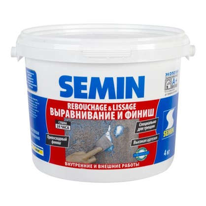 Финишпаста полимерная Semin Rebouchage & Lissage 4 кг цена