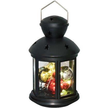 Фонарь Uniel 12х20 см RGB цвет черный цена