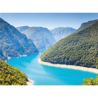 Фотообои бумажные Голубое озеро 200x140 cм