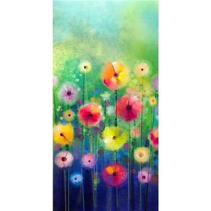 Фотообои флизелиновые Акварель цветы 100х200 см цена