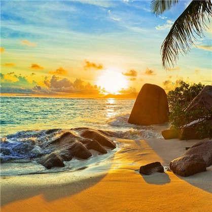 Фотообои флизелиновые Дикий пляж 200х200 см цена
