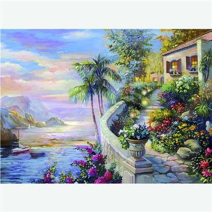 Фотообои флизелиновые Дом у моря 270х370 cм