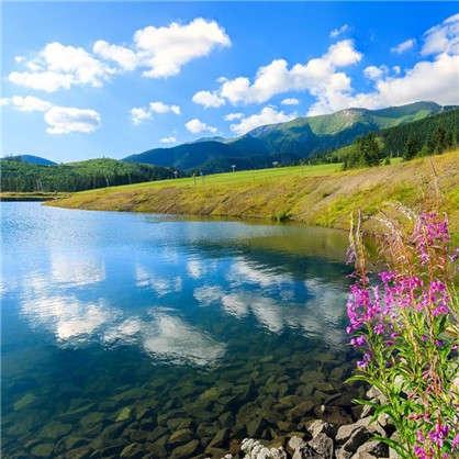Фотообои флизелиновые Озеро 200х200 см цена