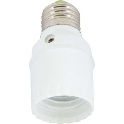 Фотореле-патрон E27 100 Вт цвет белый IP20