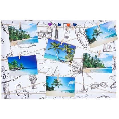 Фотосет Отпуск с прищепками 40х60 см цвет черно-белый цена