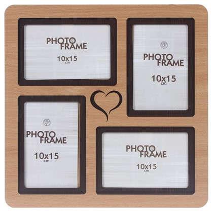 Фотосет Сердце 4 фото размер фото 10х15 см цвет бук