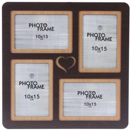 Фотосет Сердце 4 фото размер фото 10х15 см цвет венге цена