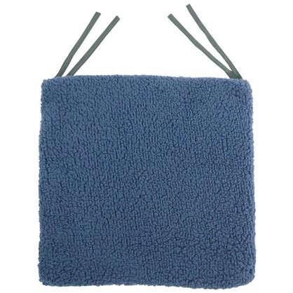 Галета для стула Шерпа 40x40 см цвет серо-синий цена