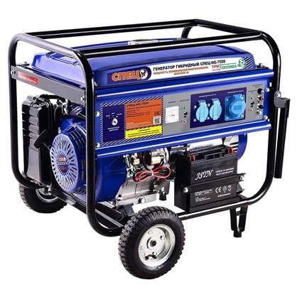 Генератор гибридный газ/бензин Спец HG-7500 6 кВт цена