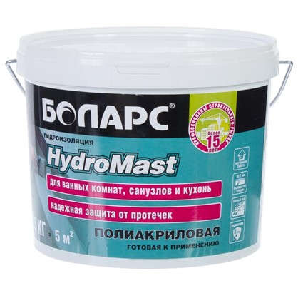 Гидроизоляция Боларс Hydromast 5 кг цена
