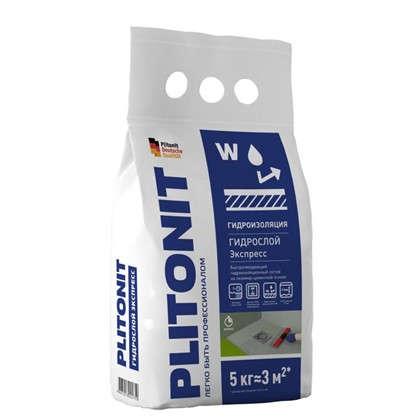 Гидроизоляция Plitonit Гидрослой Экспресс 5 кг цена