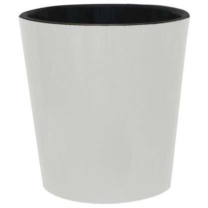 Горшок цветочный Фиджи белый 16 л 330 мм пластик с поддоном цена