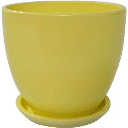 Горшок цветочный Колор гейм керамика 1.5 л 15 см цвет жёлтый цена