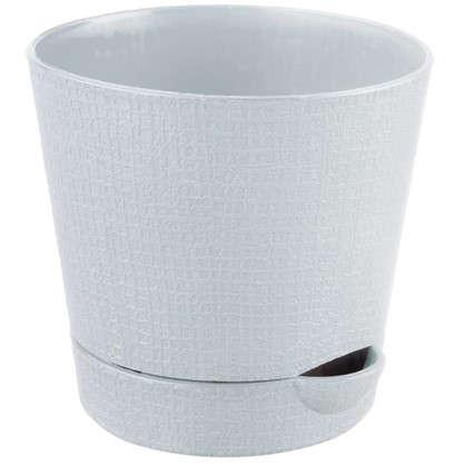 Горшок цветочный Партер кремовый 0.35 л 95 мм пластик