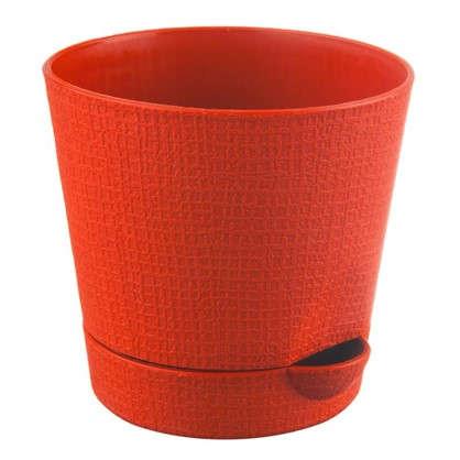 Горшок цветочный Партер оранжевый 1.4 л 150 мм пластик цена