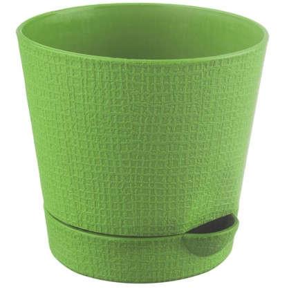 Горшок цветочный Партер зелёный 2.8 л 195 мм пластик