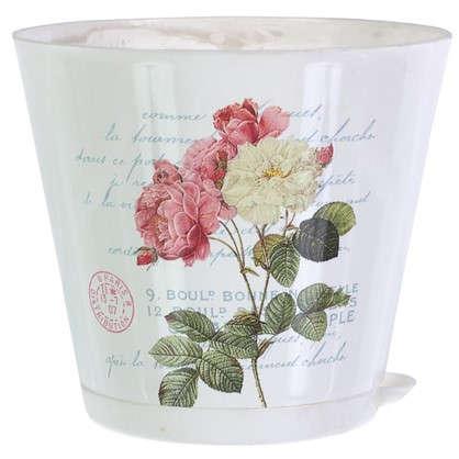 Горшок цветочный Прованс 1.8 л 160 мм пластик с поддоном