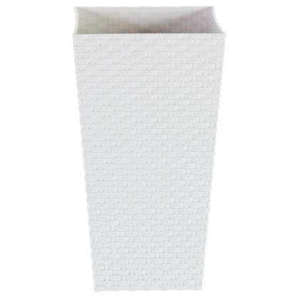 Горшок цветочный Ротанг белый 200 мм пластик
