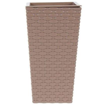 Горшок цветочный Ротанг коричневый 140 мм пластик цена