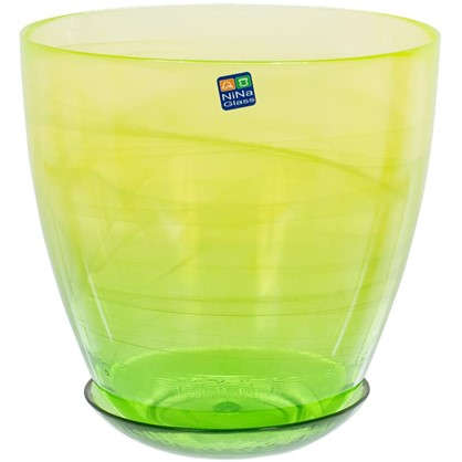Горшок цветочный Современный жёлто-зелёный 3 л 195 мм стекло цена