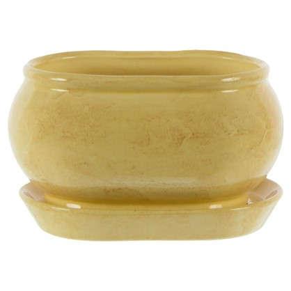 Горшок цветочный Танго бежевый 1.1 л 150 мм керамика с поддоном