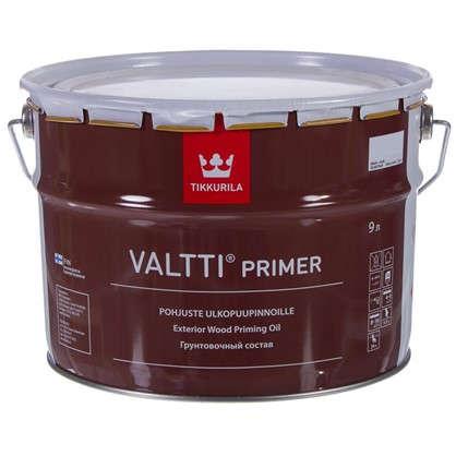 Грунтовка антисептическая Tikkurila Valtti Primer бесцветный 9 л цена