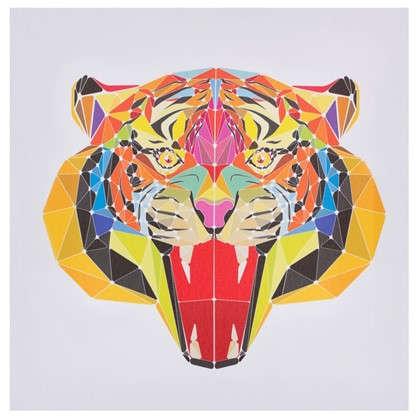 Холст 30х30 см Голова тигра цена