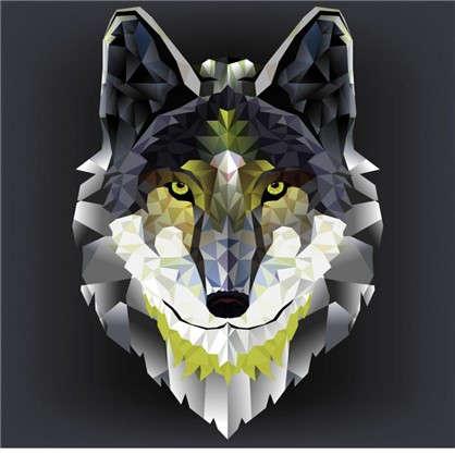 Холст 30х30 см Голова волка цена