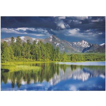 Холст 70х50 см Горное озеро цена