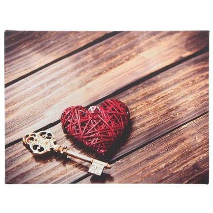 Холст Ключ от сердца 30х30 см цена