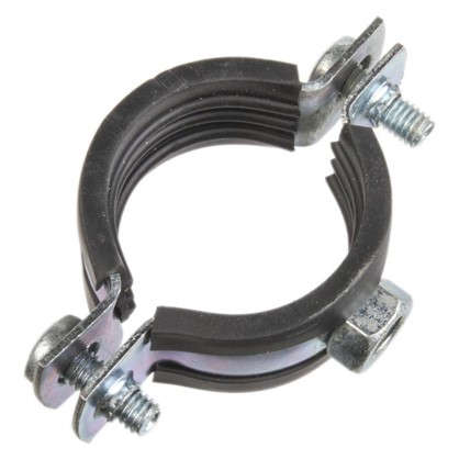 Хомут с резиновым уплотнителем и гайкой 32-35 мм цена
