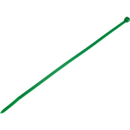 Хомуты кабельные 200х3.5 мм цвет зеленый 25 шт. цена