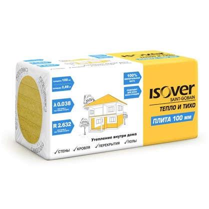 Изоляция Isover Плита 100 мм 2.88 м2 цена